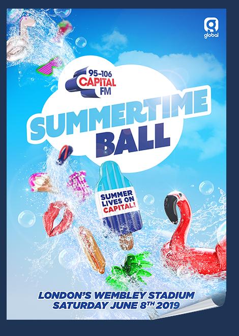 Capital FM's Summertime Ball at London's Wembley Stadium on Saturday June 8th 2019